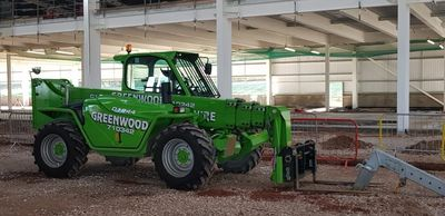 Merlo 40.17 Telehandler for hire, 17mtr telehandler for rental, 17mtr telehandler for sale. 4ton tel