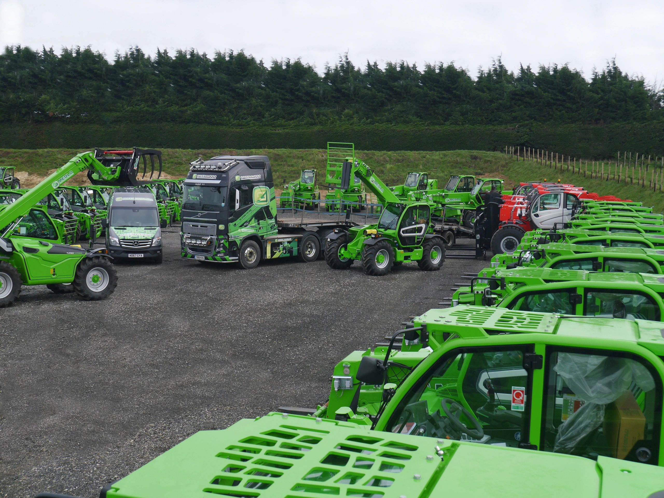 GREENWOOD  HIRE - TELEHANDLER HIRE - ROTO AND HEAVY LIFT - TELEHANDLER CONTRACT HIRE - MERLO TELE