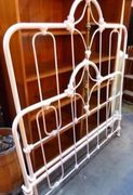 Antique iron metal full double size bed frame