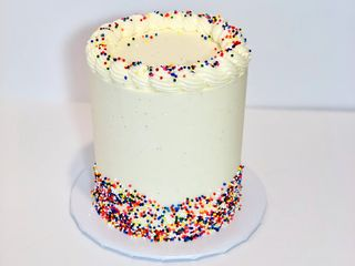 Birthday Cake with Confetti sprinkles and Vanilla Buttercream