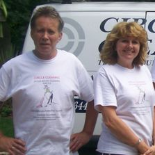 Garry & Pippa , proprietors of Circle Cleaning & All Round Cleaning our partner company.