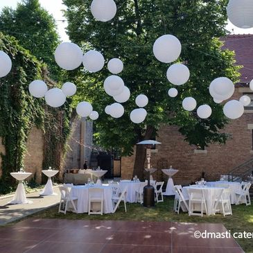 Outdoor Wedding by D'Masti Catering Inc.  Full service catering and event planning.