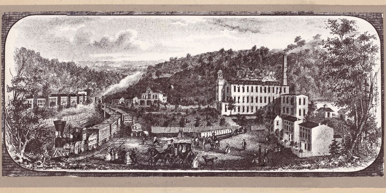 1088's lithograph of Alberton Maryland, whose name was later changed to Daniels.