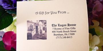 The Logan House gift certificate.