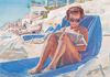 Lounger by the Sea 25 x 30 Private Collection