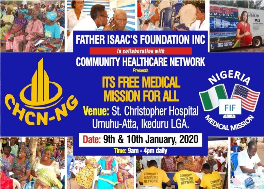 The Banner For Our Free Medical Mission For All 2020