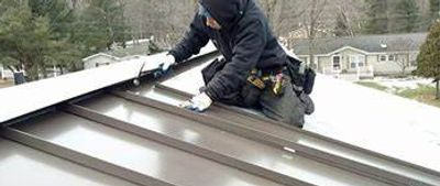 Volterra metal roof installation