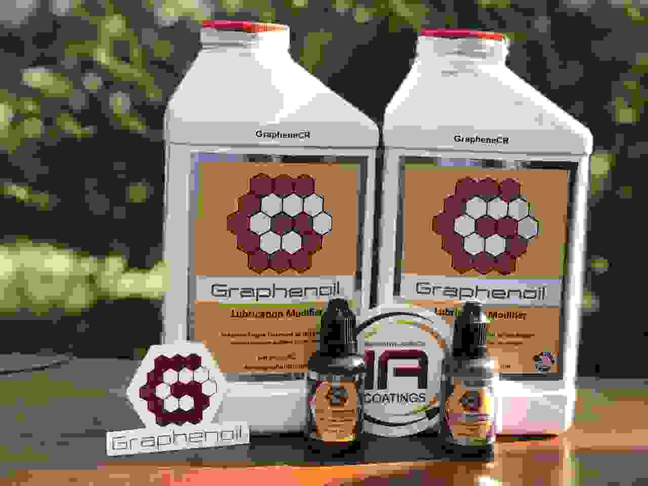Graphenoil graphene enhanced lubricants now made with GrapheneCR's ProCene graphene.