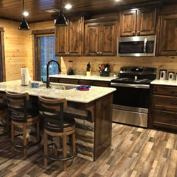 Custom Cabinet Builder in Hochatown. Cabinets in Broken Bow.