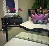 MIRRORED BED, GLAM BED