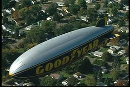 GOODYEAR BLIMP VIEW FROM ABOVE AERIAL IMAGING PRODRONEFX