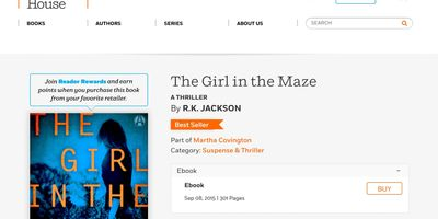 The Girl in the Maze bestseller banner