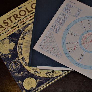 Astrology chart and books