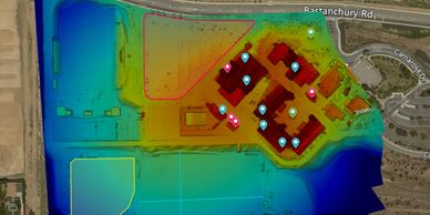 Drone mapping, aerial map, aerial maps, aerial mapping, construction, survey, construction surveyor