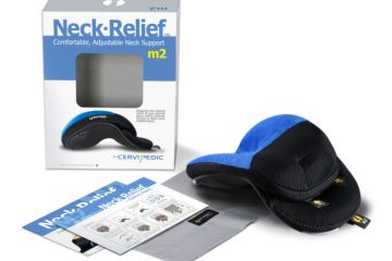 CerviPedic Neck Relief used to support the neck and help restore the cervical curve.