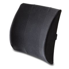Lumbar Support Cushion to use on office chairs and in cars to allow the natural curve of the spine while sitting.