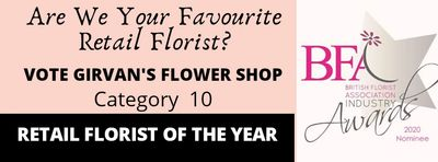 British Florist of the Year 2020 Award. British Floristr Association Awards.