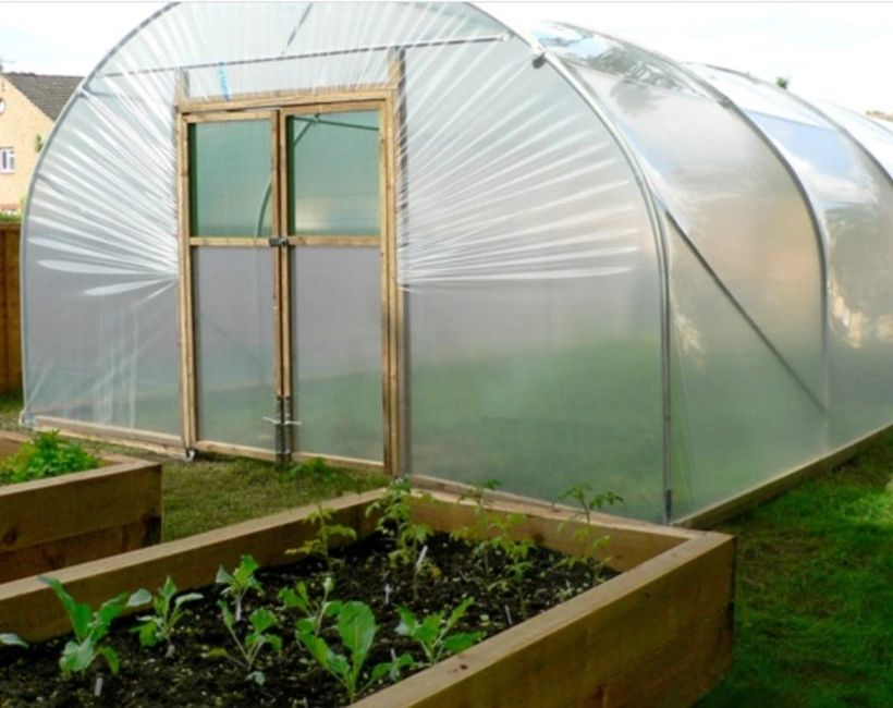 "Our brand New Super Upgraded Poly Tunnels will arrive soon! #plottoshop ""Grown On Our Own Farm"""
