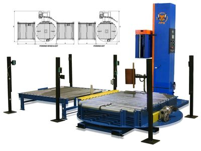 FPS 600 Inline Automatic Pallet Stretch Wrapping Turntable