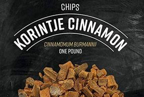 Korintje cinnamon chips for elderberry tea blends