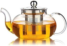Glass tea pot with infuser, infuser tea pot