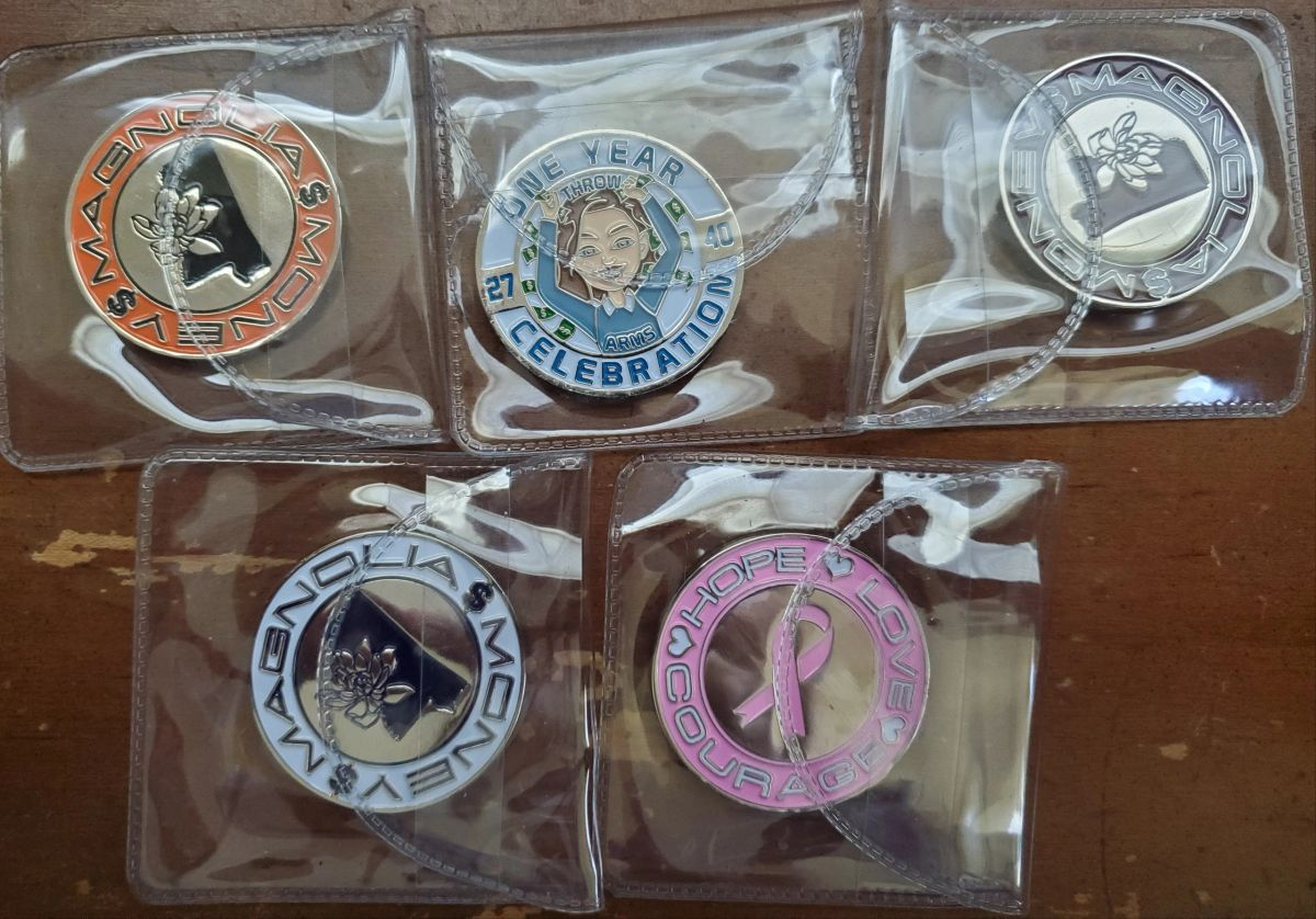 Details about  /Magnolia Money Lottery Scratch Coins FULL SET Mississippi