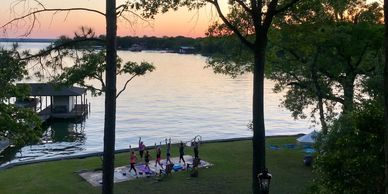 yoga lake weekend retreat vacation  self care wellness  nature fort worth