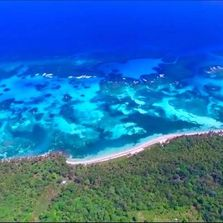 Little Corn Island from the air