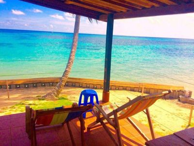 Little Corn Island beach house view