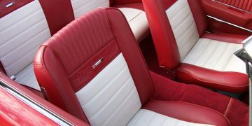 1964 Mustang Red Leather Pony Seats