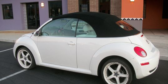 2006 Volkswagen with a new canvas convertible top