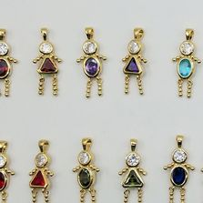 24k Gold Plated or Bright Silver Rhodium plated  Birthstone Babies
