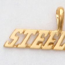 24k Gold Plated Team Name Pendants