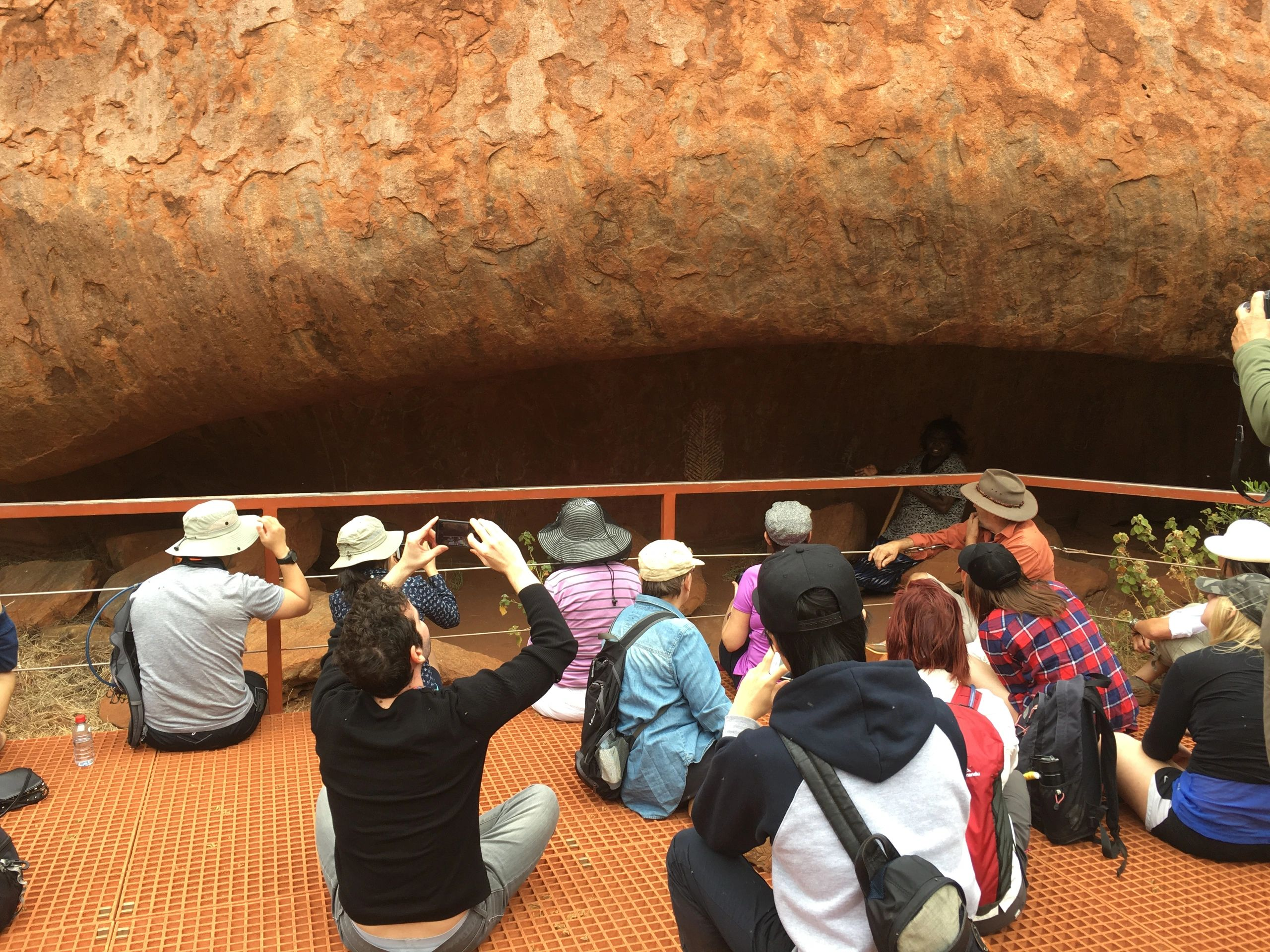 Leroy and Christine touring at Uluru