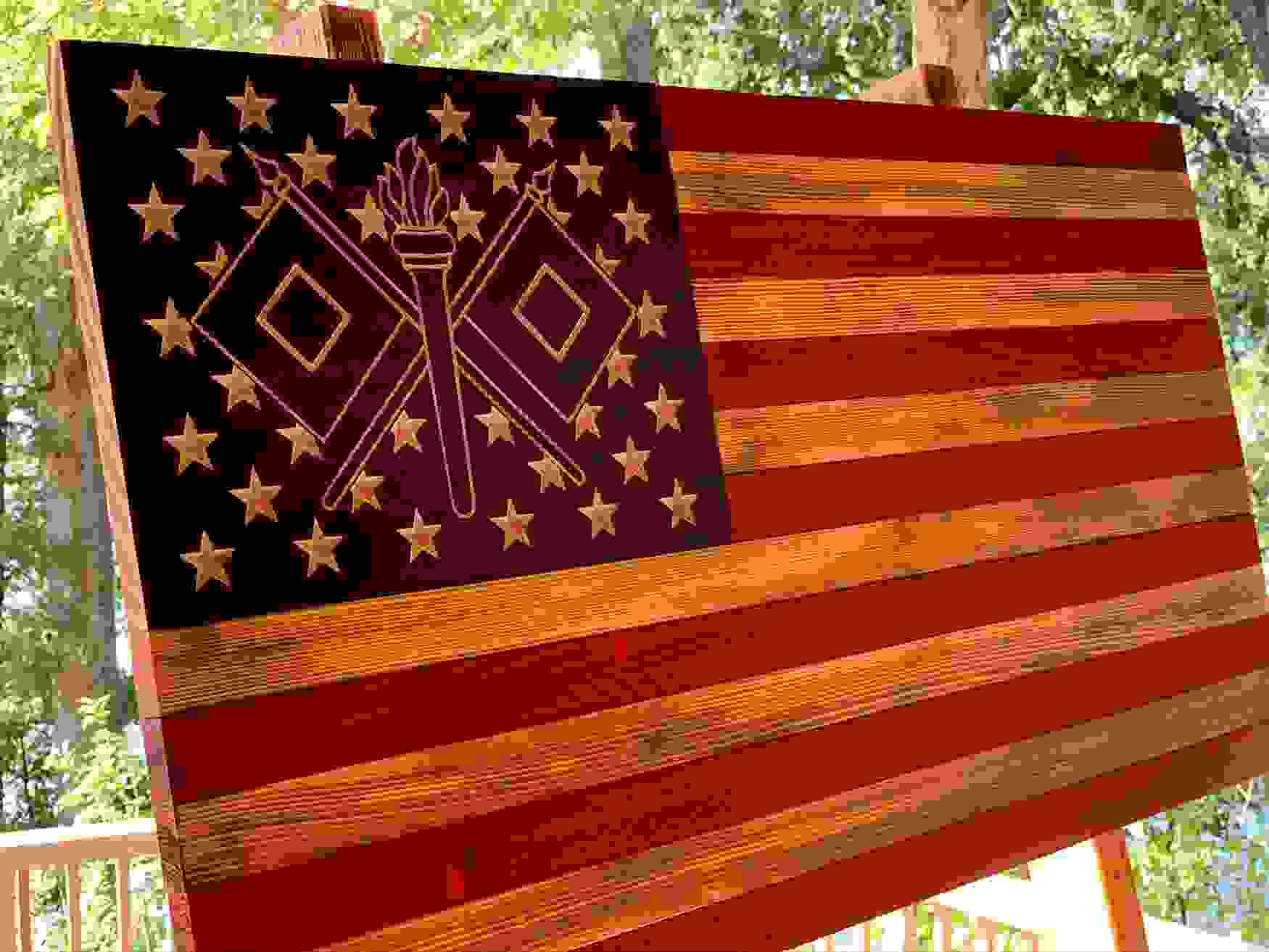 Army Signal Corps wooden flag