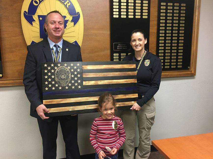 In memory of Police Officer Stephen Carr. This is a Custom Wooden Blue Thin Line Flag.