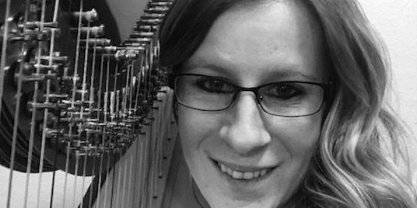 "Harpist Rochelle ""Rockie"" Dabel has appeared with numerous ensembles throughout Wisconsin. Starting"