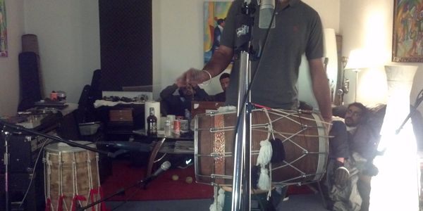 Dhol recording at Stoneman Studios