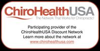 member of the ChiroHealth USA network of providers giving discounts to patients