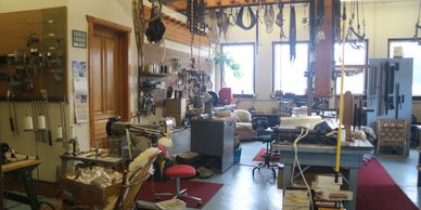 World Wide Equine's leather shop