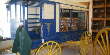 1850's Veterinarian Wagon in World Wide Equine's Dental Museum