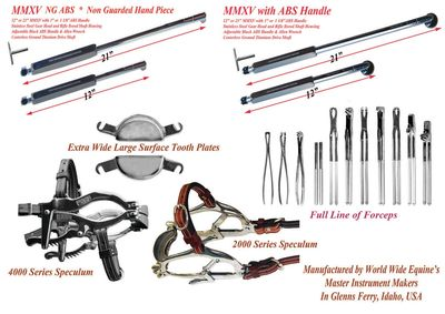 Equine Dental Instruments from World Wide Equine