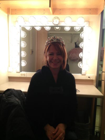 Backstage at Lincoln Center in a ballerina's dressing room!