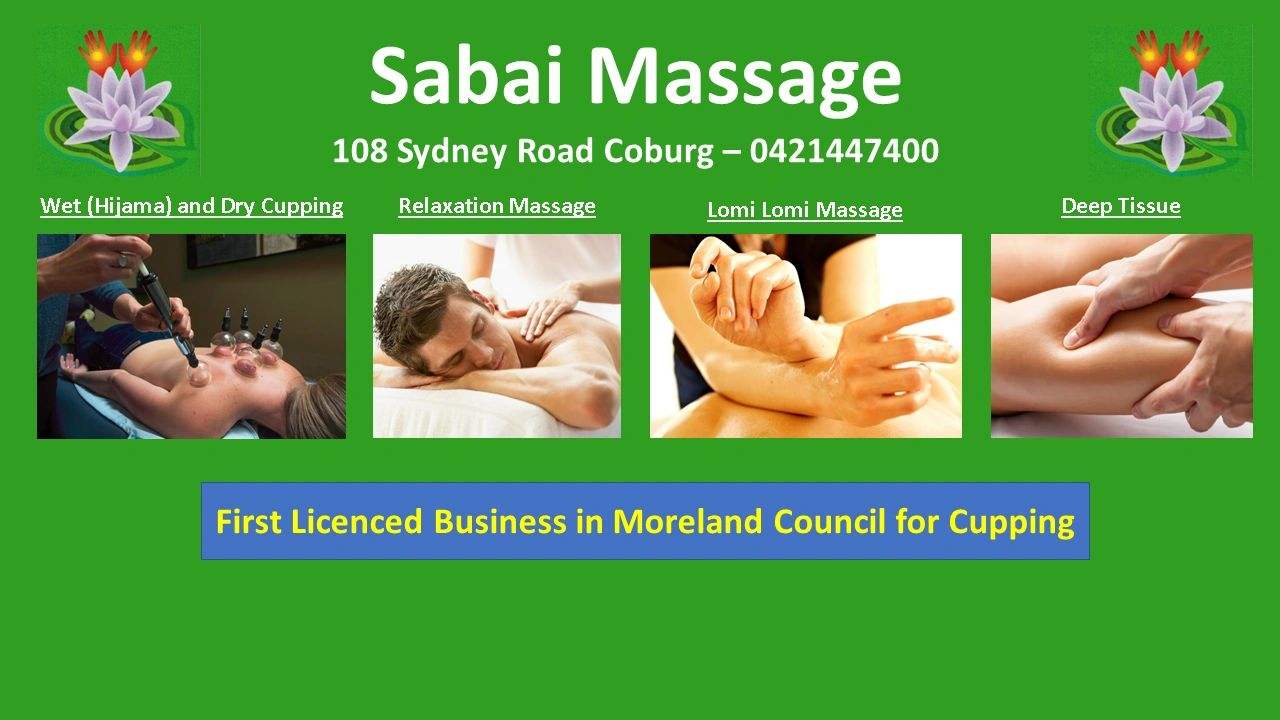 first licenced massage cupping in moreland council
