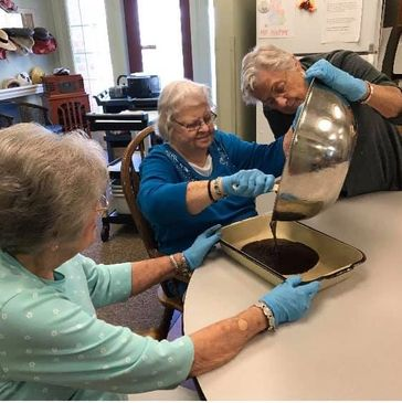 Pennsylvania Place assisted living residents baking
