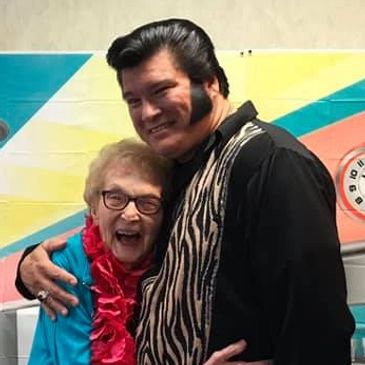 Pennsylvania Place resident having fun with Elvis