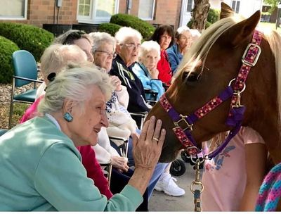 Pennsylvania Place residents enjoying animals