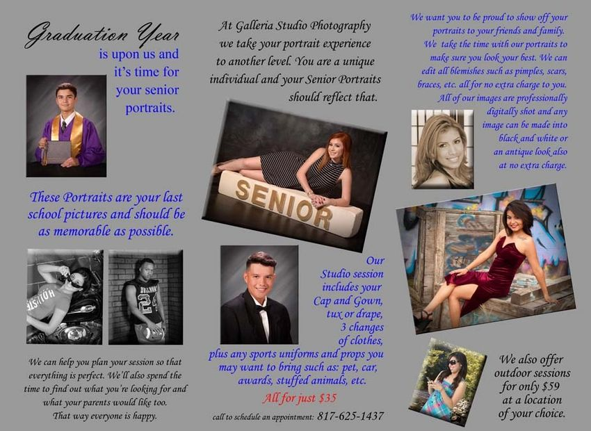 High School Senior and graduation photography information
