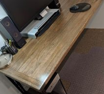 Farmhouse Rustic Timber Home Office Desk Furniture