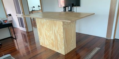 Home and Commercial Office meeting table custom made furniture using Architectural ply board